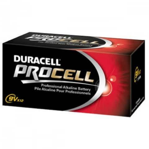 Duracell PC1604BKD Procell Alkaline Battery, 9-Volt, 12-Pack