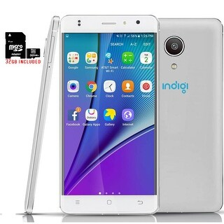"""Indigi 5.0"""" 4G LTE GSM Unlocked SmartPhone  Android Marshmallow + 32gb included - White"""