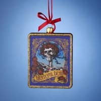 "Pack of 6 Grateful Dead Glass Christmas Ornaments 4.25"" - multi"