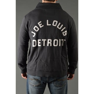 Roots of Fight Joe Louis Throwback Button-Front Cardigan Jacket - Black