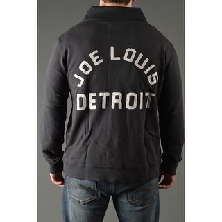 Roots of Fight Joe Louis Throwback Button-Front Cardigan Jacket - Black (2 options available)