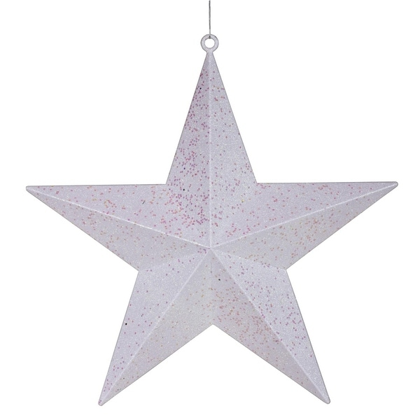 "23"" Commercial Size Winter White Glitter 5-Pointed Star Christmas Ornament"