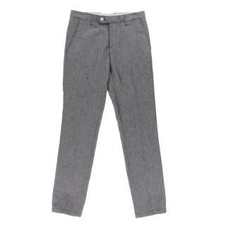 Zara Mens Linen Chambray Pants - 36