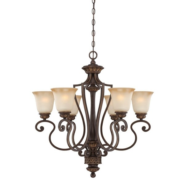 Jeremiah Lighting 28226 Josephine Single Tier 6 Light Chandelier - 28 Inches Wide