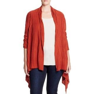 Love Scarlett Womens Plus Cardigan Sweater Open Front Ribbed