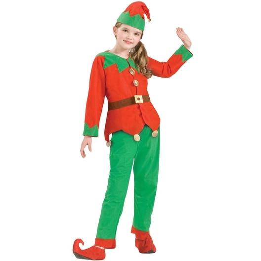 6be72219d5fde Forum Novelties Simply Elf Child Costume - Red/Green - Standard