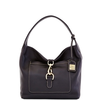 Dooney & Bourke Pebble Grain Medium Annalisa Lock Sac (Introduced by Dooney & Bourke at $258 in Nov 2013) - black black