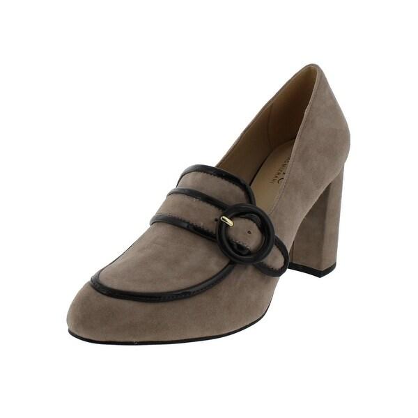 IMNYC Isaac Mizrahi Womens Gene Loafer Heels Pumps Dress - 7.5 medium (b,m)