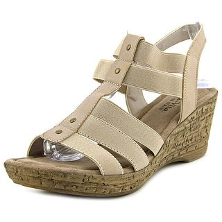 Bella Vita Ravenna Women W Open Toe Canvas Wedge Sandal