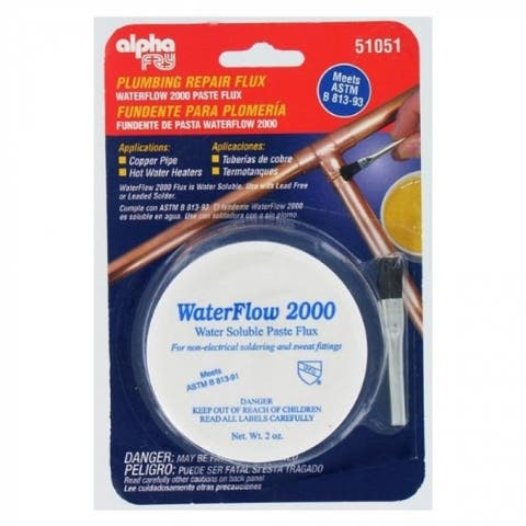 Alpha Fry AM51051 Plumbing Solder Flux & Brush, Cream