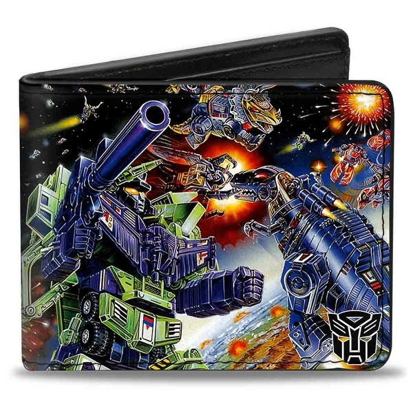 Construction Devastator Dinobots Battle Bi Fold Wallet - One Size Fits most