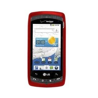 OEM LG Ally VS740 Snap-On Cover Case - Red (Bulk Packaging)