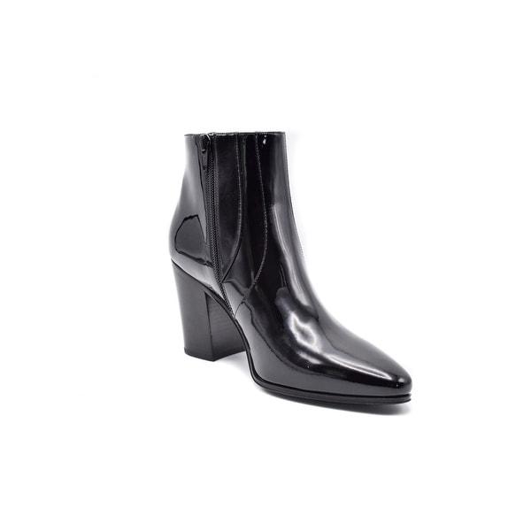 saint laurent leather chelsea boots