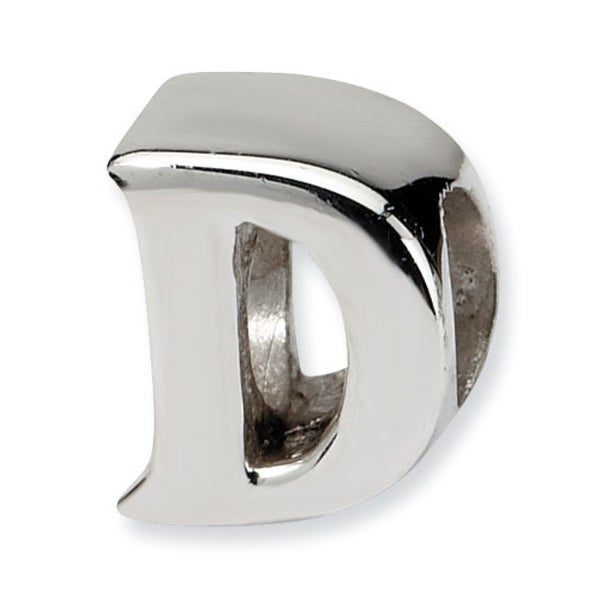Sterling Silver Reflections Letter D Bead (4mm Diameter Hole)