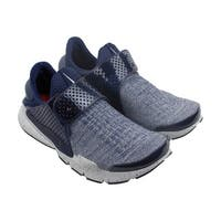 Nike Sock Dart Se Premium Mens Blue Textile Athletic Lace Up Running Shoes