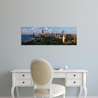 Easy Art Prints Panoramic Images's 'Chicago IL' Premium Canvas Art