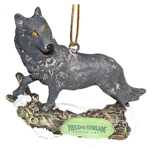 Field & Stream Gray Wolf Christmas Ornament #FS0121