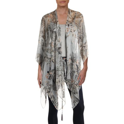 BCBGeneration Womens Kimono Sheer Printed - O/S