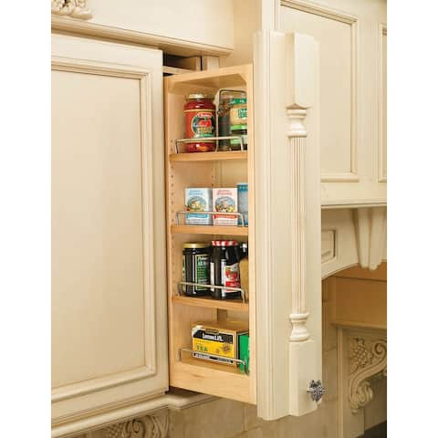 """Rev-A-Shelf 432-WF39-6C 39"""" Tall 6"""" Wide Wall Filler Pull Out Organizer with Adjustable Shelves from the 432 Series -"""