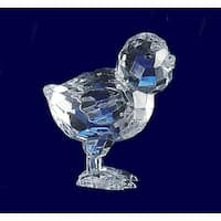 "Club Pack of 18 Icy Crystal Decorative Chick Figurines 2.5"" - Clear"