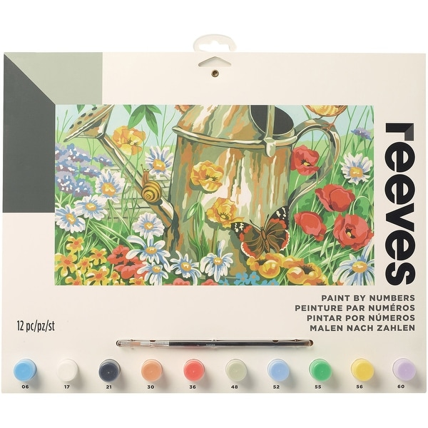 "Paint By Number Kit 12""X16""-Watering Can"