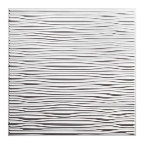 Genesis Drifts White 2 x 2 ft. Lay-in Ceiling Tile