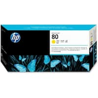 HP 80 Yellow DesignJet Printhead and Printhead Cleaner (C4823A) (Single Pack)