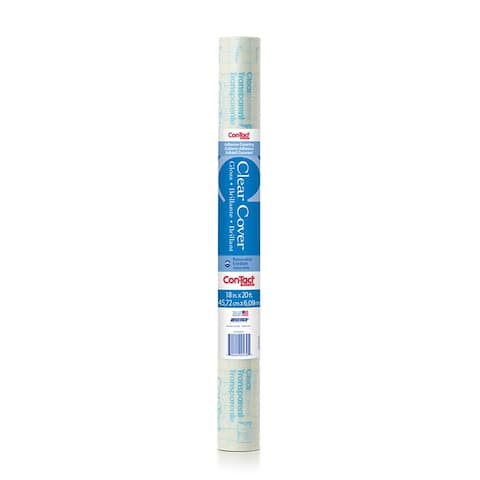 """Self-Adhesive Clear Covering, 18"""" x 20 ft, 2 Rolls"""