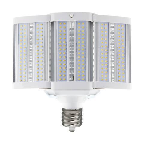80 Watt LED Hi-Lumen Shoe Box Style Lamp For Commercial Fixture Applications 3000K Mogul Extended Base 100-277 Volts - White