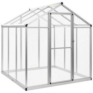 "Link to vidaXL Outdoor Aviary Aluminium 72""x70.1""x76.4"" Similar Items in Dog Containment"