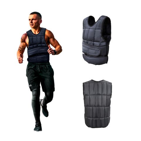 BLACK ONLY Weighted Vest, Body Weight Sandbag for Cardio Workout Fitness Training