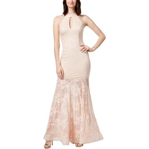 Xscape Womens Evening Dress Lace Halter