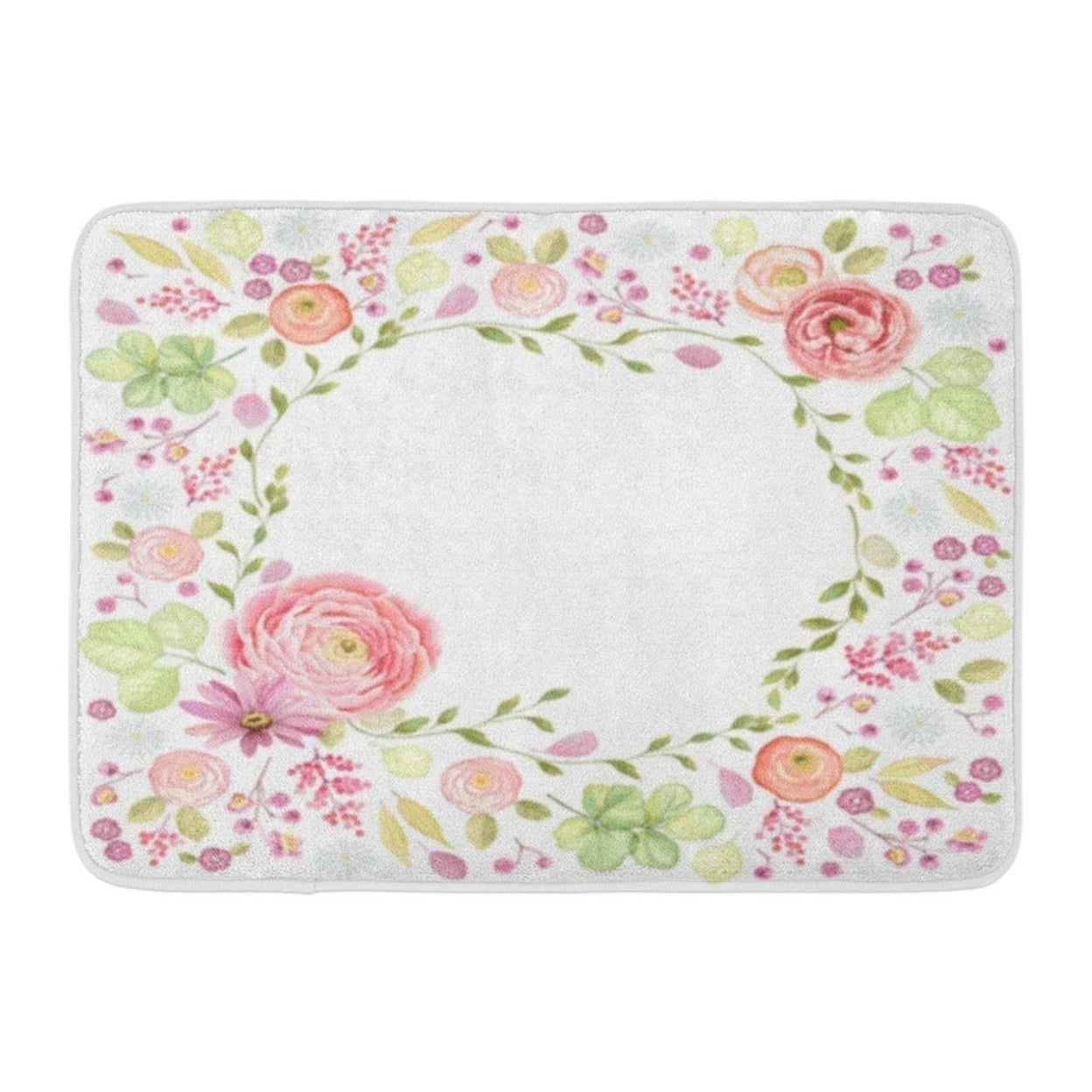 Made Of Flowers And Leaves Window Floral Butterfly In Vintage Watercolor Doormat Floor Rug Bath Mat 30x18 Inch Multi On Sale Overstock 31779493