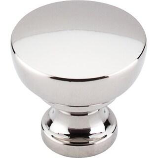 Top Knobs m1321 Nouveau III 1-1/4 Inch Diameter Mushroom Cabinet Knob - polished nickel