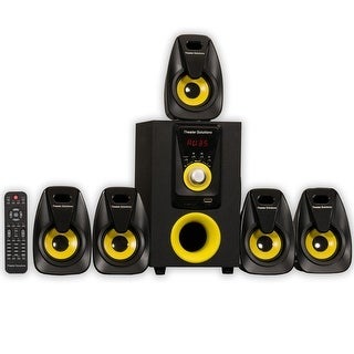 Theater Solutions TS522 Home Theater 5.1 Speaker System with Powered Sub and USB Drive