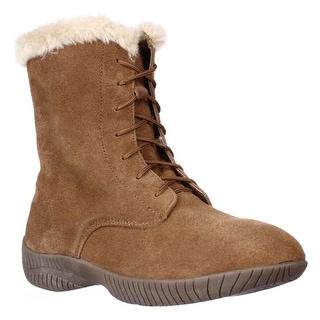 SC35 Celie Lace-Up Winter Snow Boots - Chestnut