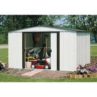 """Arrow Newburgh Galvanized Steel Shed 10' x 8' with 60"""" Wall Height With doors / NW108-A"""