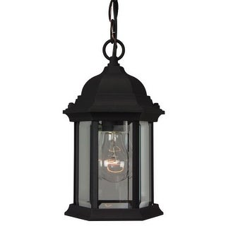 "Craftmade Z291 Hex Style Cast Single Light 6-1/2"" Wide Outdoor Mini Pendant with Clear Seeded Glass"