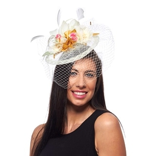 Lovely Lauren Fascinator Cocktail Hat (Black only)