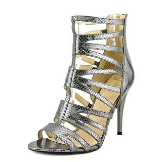 Nine West All Clear Women  Open Toe Leather Gray Gladiator Sandal