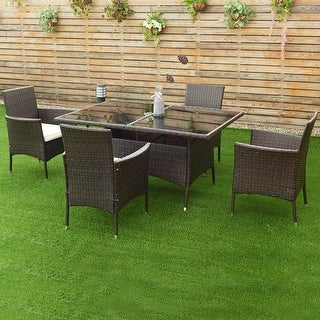 Rattan Garden Furniture Sofa Costway 5pcs rattan garden sofa set outdoor patio furniture table costway 5pcs rattan garden sofa set outdoor patio furniture table chair with cushion workwithnaturefo