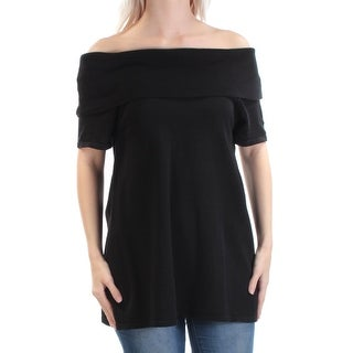 VINCE CAMUTO $99 Womens New 1560 Black Short Sleeve Off Shoulder Sweater L B+B