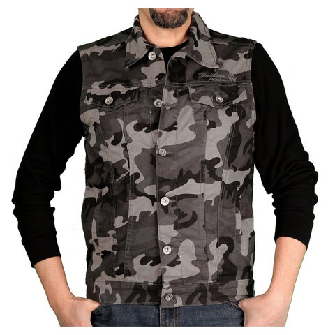 Miskeen Originals Men's Camouflage Heavy Twill Vest