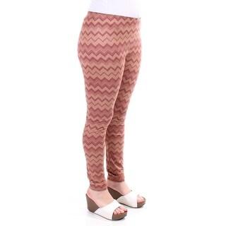ULTRA FLIRT Womens New 1451 Brown Chevron Casual Leggings Juniors M B+B