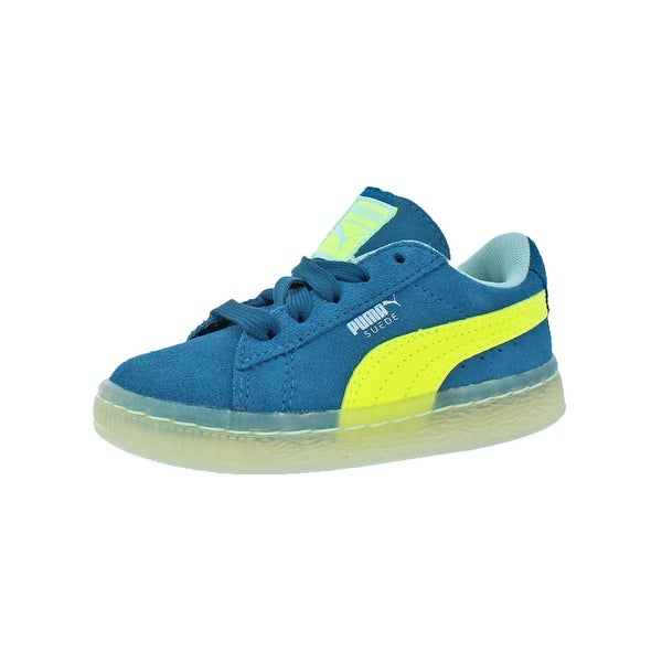 dec4b82fe30e Puma Boys Suede LFS Iced Sneakers Padded Insole kinder-fit - 8 medium (d