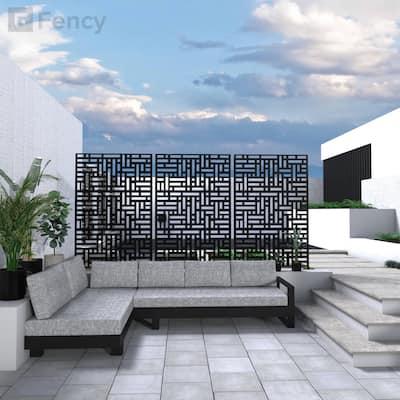 Fency Metal Privacy Screen Free Standing Street - 76x47