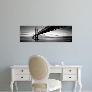 Easy Art Prints Panoramic Images's 'Twilight, Bay Bridge, San Francisco, California, USA' Premium Canvas Art