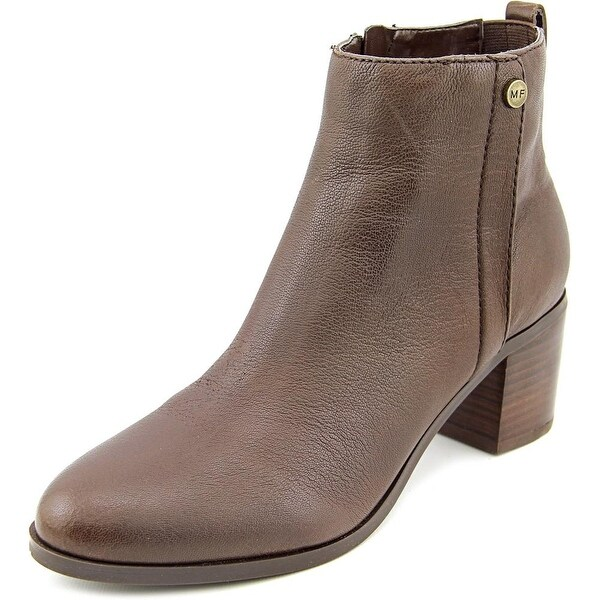 Marc Fisher Samona Round Toe Leather Ankle Boot