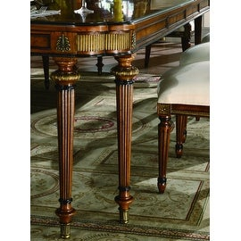 """Parisian Court Rectangle Dining Table with two 22"""" leaves - Brown"""