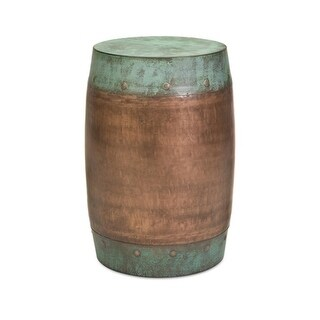 """19.25"""" Hammered Texture Copper-Plated Floor Stool"""